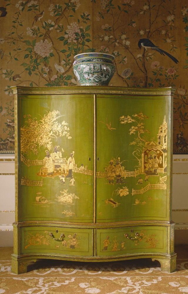 Chartreuse Chinoiserie Wardrobe ;