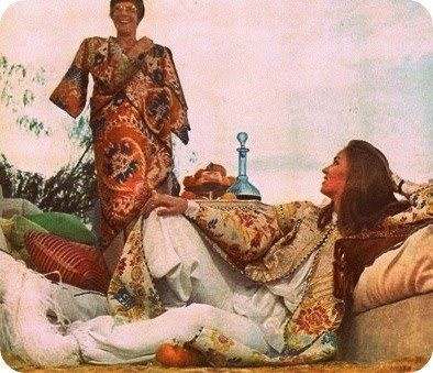 Talitha Getty (completely high in this pic) but momentarily lovely. Talitha_Getty_via_lavieboston