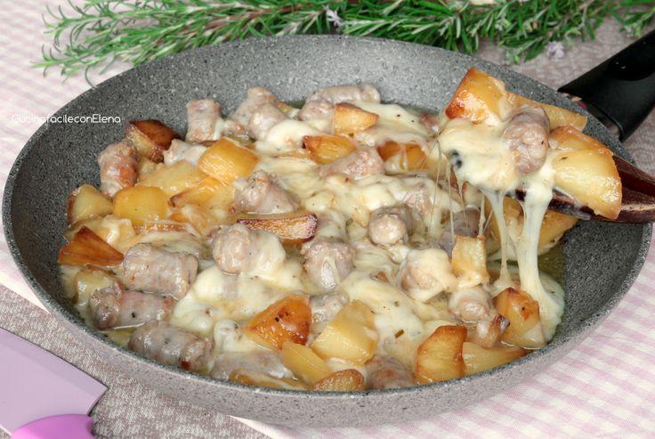 salsiccia e patate filanti in padella2