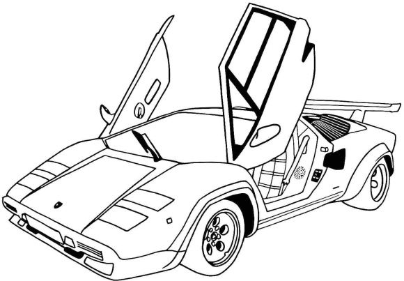 Lamborghini Free Coloring Page Race Car Coloring Pages Sports