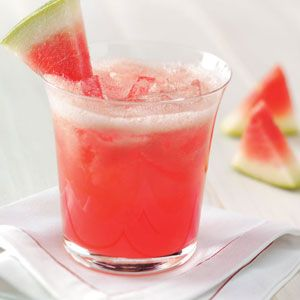 Watermelon+Cooler    •2 cups lemonade  •3 cups seedless watermelon, coarsely chopped  •1 cup crushed ice  Directions  •In a blender, combine all ingredients; cover and process until smooth. Pour into chilled glasses; serve immediately. Yield: 4 servings