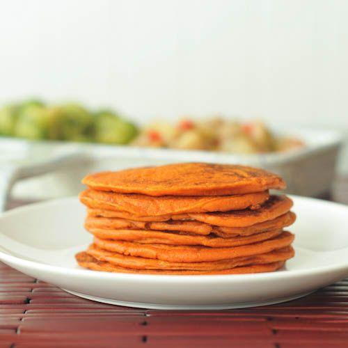 savory tomato protein pancakes