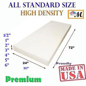 Seat Foam Cushion Replacement High Density Upholstery per Sheet Standard Sizes   eBay