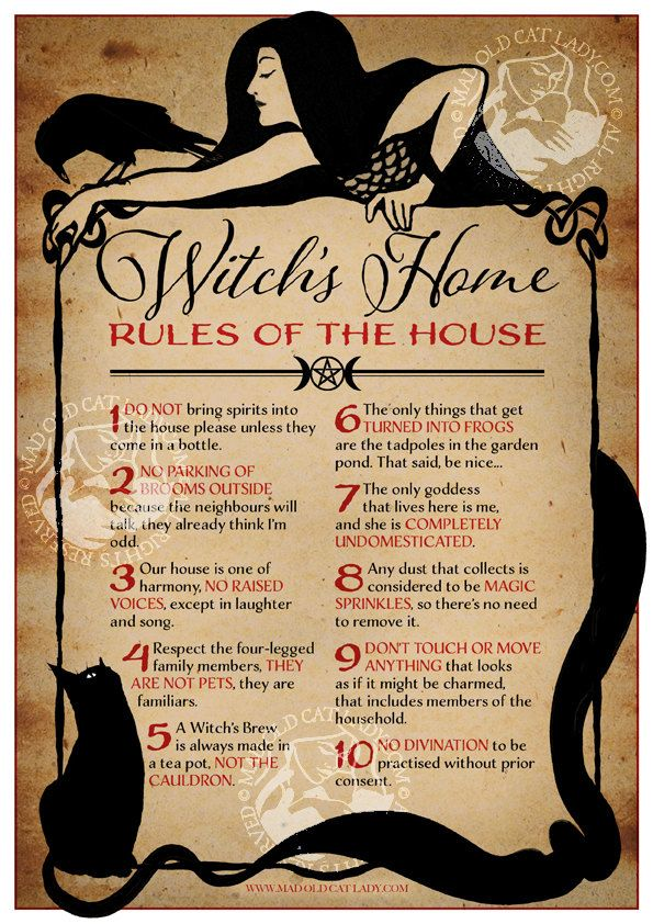 Witch's Home – Rules of The House **A4** art print