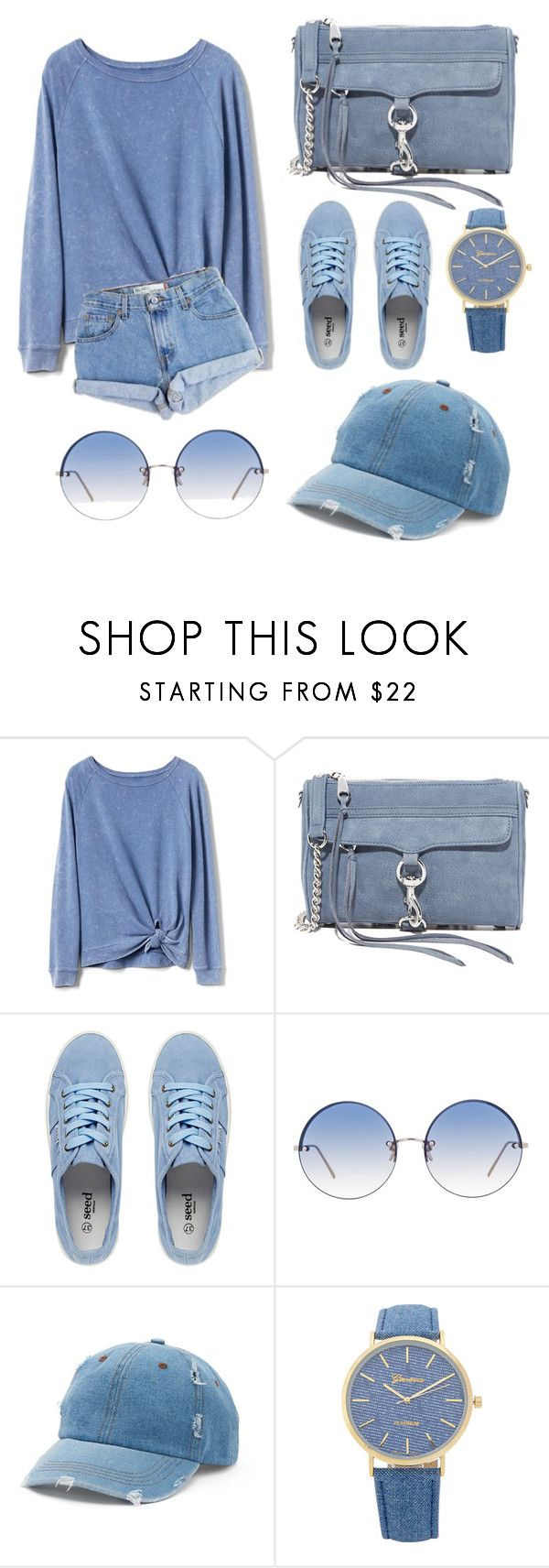 """for a sunny day yet chilly weather, your casual (blue) sunday afternoon look."" by scrindipity ❤ liked on Polyvore featuring Gap, Levi's, Rebecca Minkoff, Linda Farrow and Mudd"