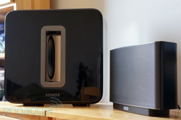 The new Sonos Sub can be added to any room with Sonos speakers.