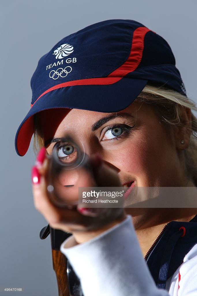 18yr old Amber Hill poses for a portrait as she is selected for the Team GB Shooting Team for Rio 2016 Olympic Games at the E.J.Churchill Shooting Ground on November 02, 2015 in High Wycombe, England.