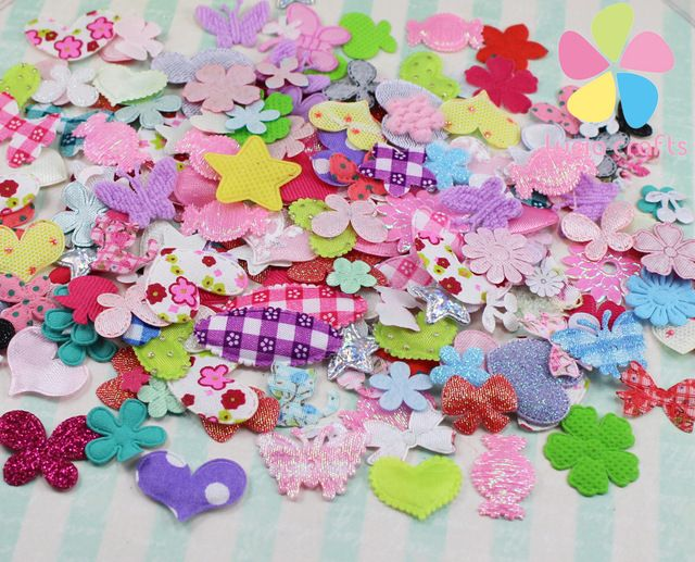 fabric flower mix DIY for wedding decoration and home decoration about 10g/lot,(about 220pcs/bag) 14020006(0.9-4HS10g)