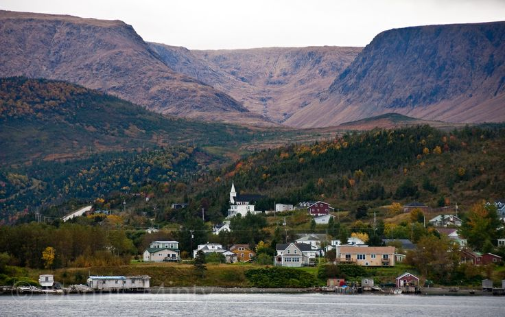 Woody Point and Table Mountain, Gros Morne National Park, Bonne Bay, Newfoundland, Canada