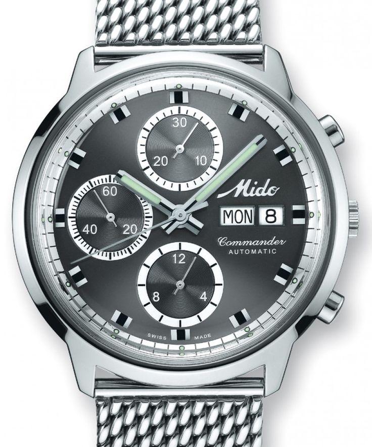 Mido | Commander Chronograph | Edelstahl | Uhren-Datenbank watchtime.net