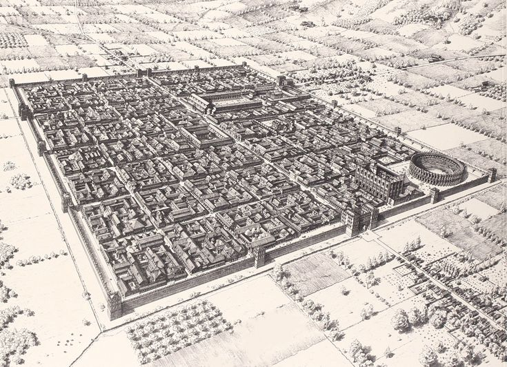 Augusta Pretoria a perfect example to illustrate the neatness of Roman architecture (x-post /r/papertowns)