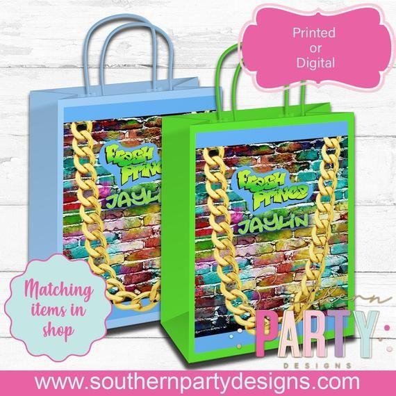 fresh princess custom labels party printables fresh prince gift bags