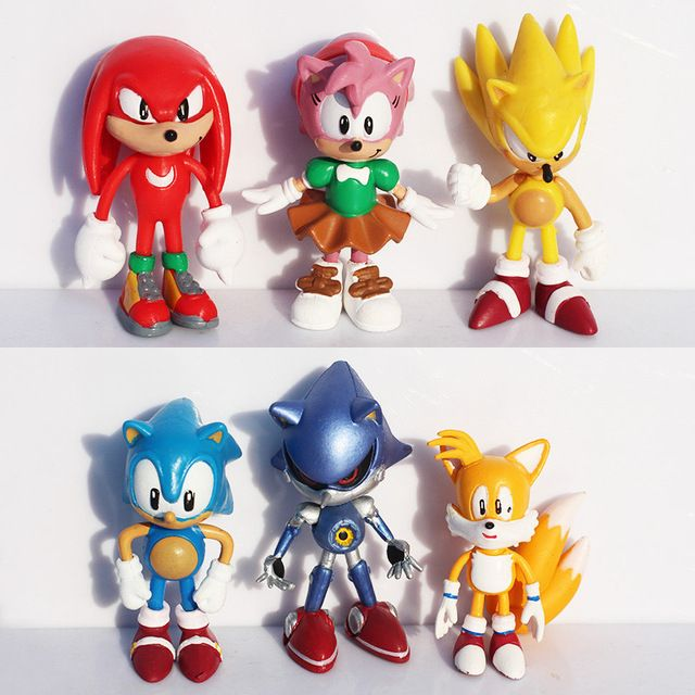 6 Pcs Anime Cartoon Sonic The Hedgehog Action Figure Doll Toys //Price: $16.98 & FREE Shipping //     #actionfigure