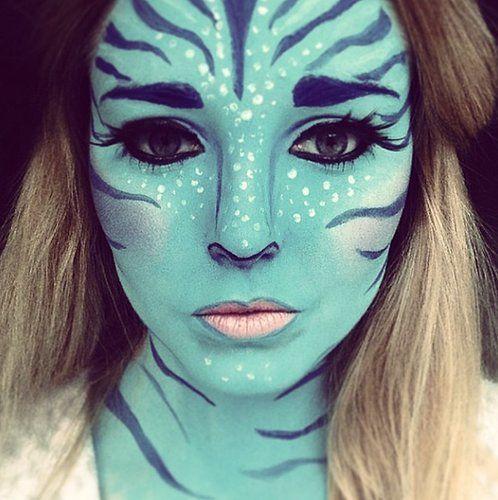 Fantastical #Avatar #Halloween face paint.