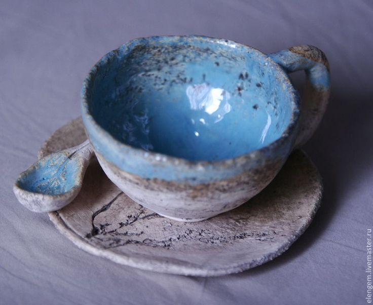 Купить Керамическая чайная пара - Керамика, керамика ручной работы, чайная пара, керамическая посуда