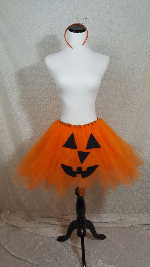 Jack-O-Lantern Tutu Set ADULT Jack-O-Lantern Costume Pumpkin