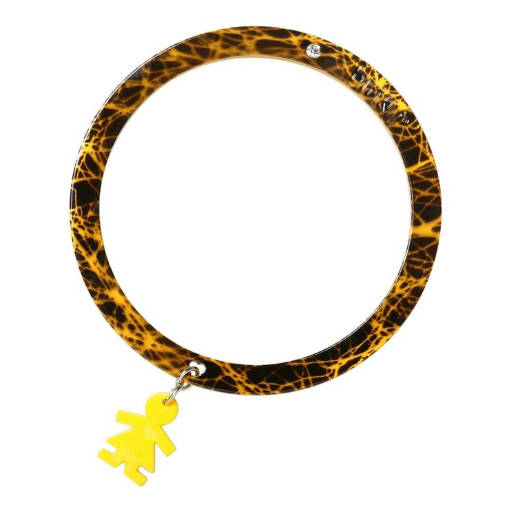 Bracciale linea #passion by #birikini: flash giallo e nero