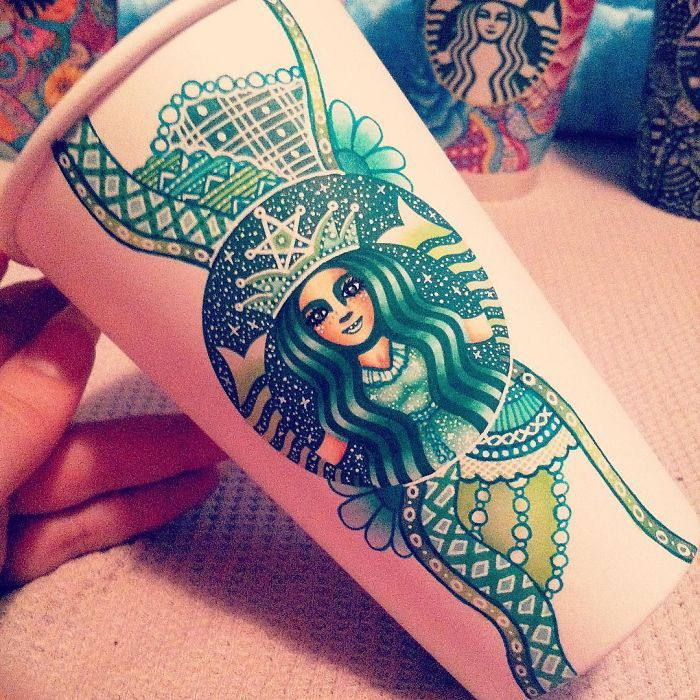 I Turn Starbucks Cups Into Art | Bored Panda