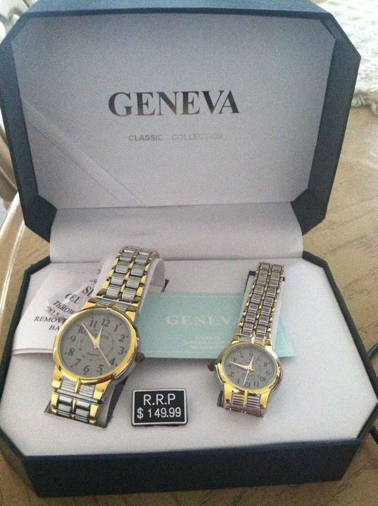 Geneva Classic Collection His and Hers Matching Watches ...