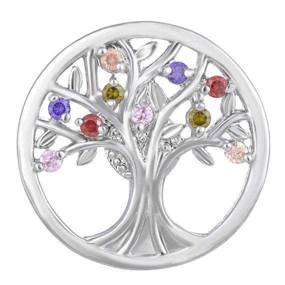 The Tree of Life Multi Color CZ Stones Crystal by ArmCandyCompany
