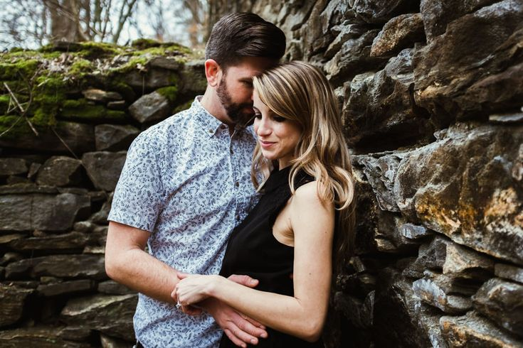 Cute couple cuddle near old abandoned paper mill ruins in forest   Outdoor Adventure Photo Shoot   Sope Creek Trail   Elyse Jankowski Photography   Atlanta Georgia Wedding & Engagement Photographer
