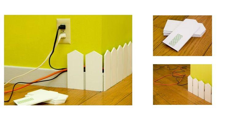 La grande organisation : cacher ses câbles et retrouver un bureau net : pour tous les câbles appareils AV + fils éléctriques