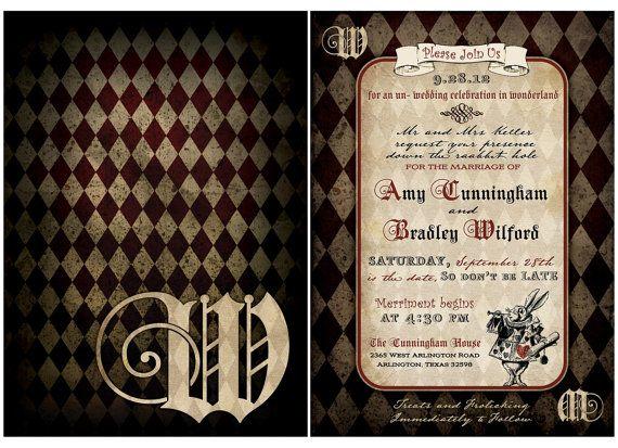 Vintage Alice in Wonderland Wedding  Invitation by mybigdaydesigns, $2.75