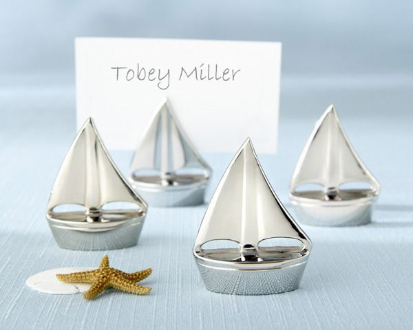 """""""""""Shining Sails"""" Silver Place Card Holders (Set of 4)"""""""