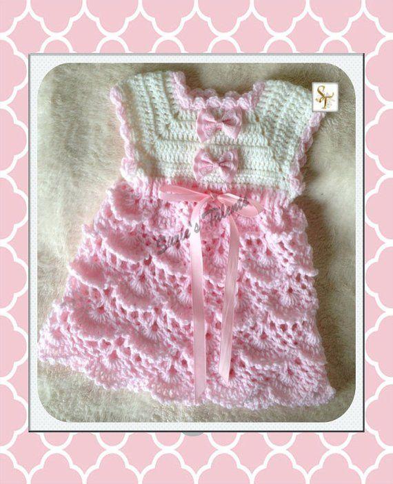3be049c0d PT071 0-12 Months Crochet Baby Dress Baby Dress pattern