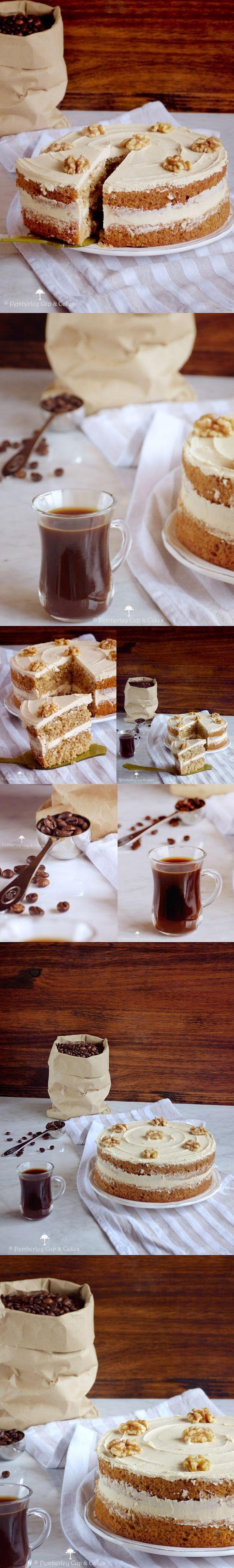 Tarta de cafe y nueces