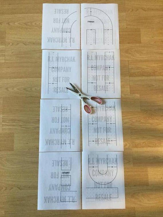 Large Cribbage Board Hole Pattern Paper Template Digital