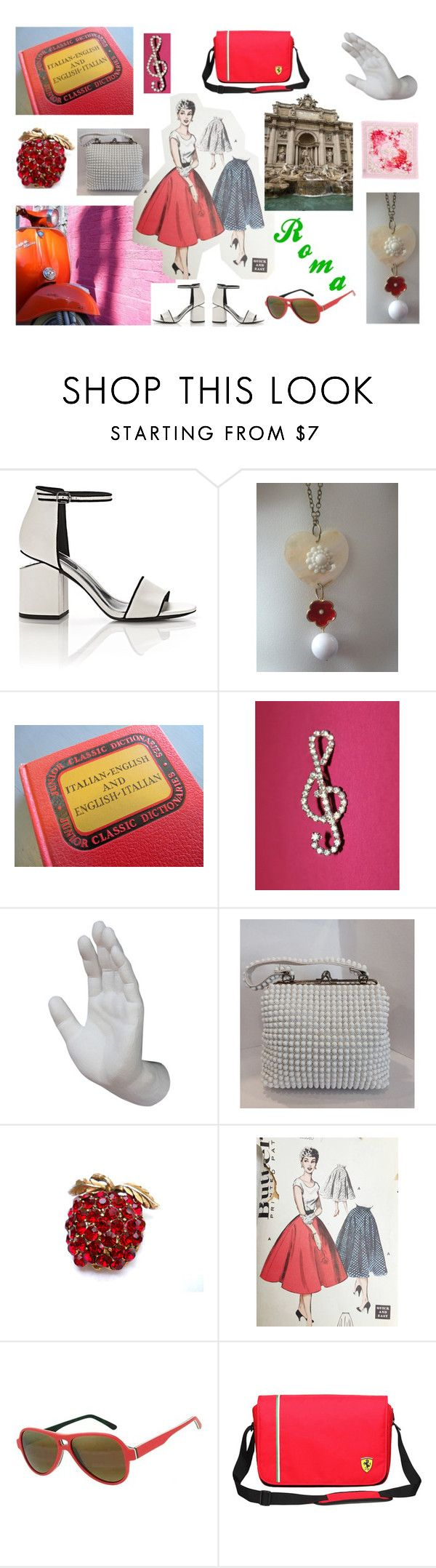 """""""Roman Holiday"""" by troppo-bella-vintage ❤ liked on Polyvore featuring Alexander Wang, Interior Illusions Plus, Italia Independent, Versace and vintage"""