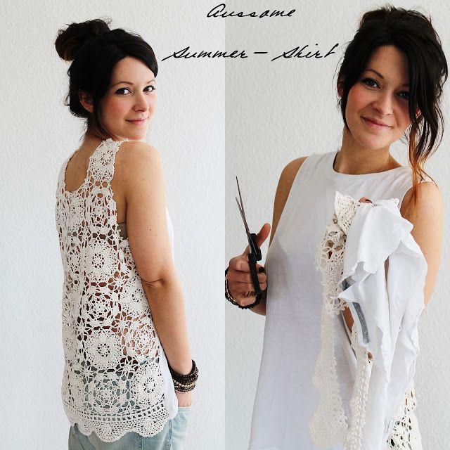Jestil: DIY back lace shirt