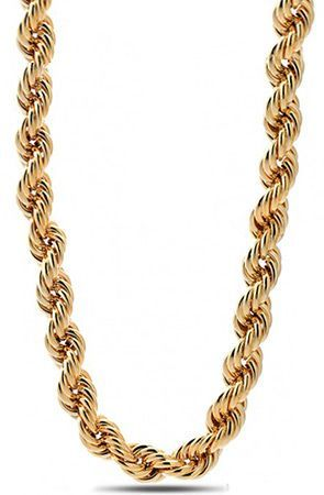 fe7b944a7b King Ice 16mm Run DMC Yellow Gold Rope Dookie Chain | Necklace ...
