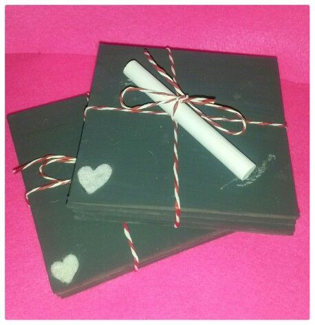 Blackboard coasters