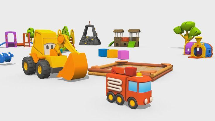 Cartoni Animati per Bambini - Max l'escavatore e il Camion dei Pompieri