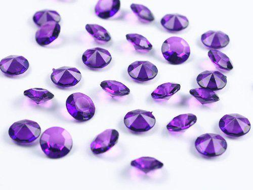 Kristalle Lila Diamanten Streuteile Dekosteine Tisch Deko Hochzeit 100