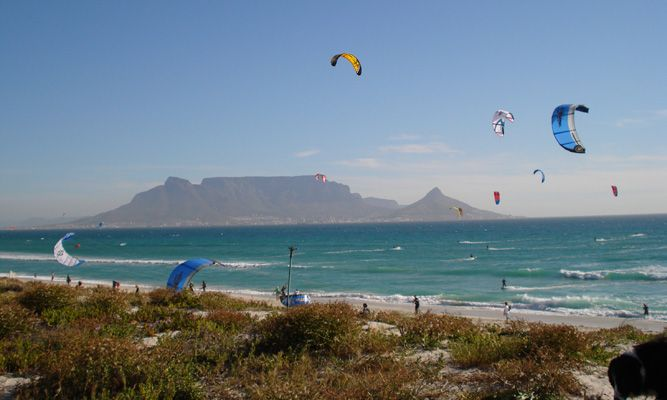 Kite surfer from our condo...our view
