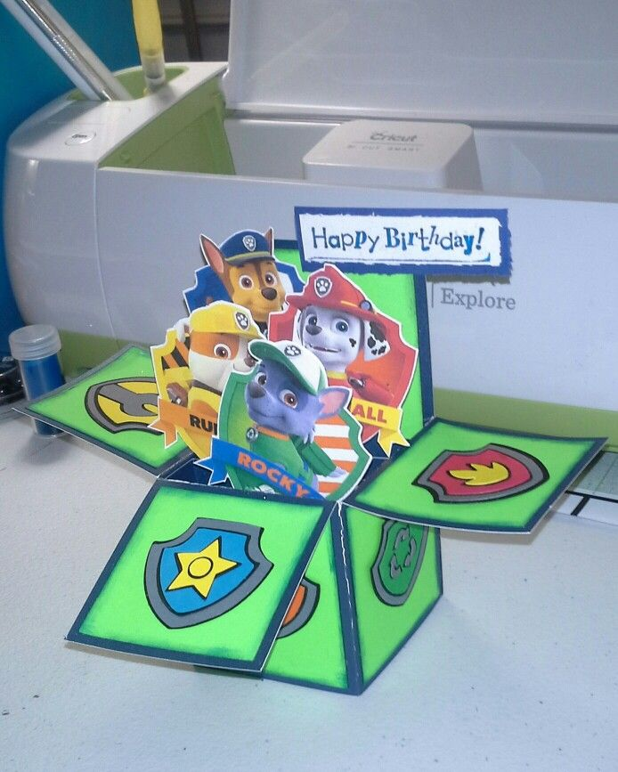 die besten 25 paw patrol birthday card ideen auf pinterest pfote patrouille geburtstag paw. Black Bedroom Furniture Sets. Home Design Ideas