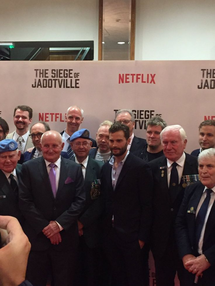 The cast and the Veterans of The Siege of Jadotville