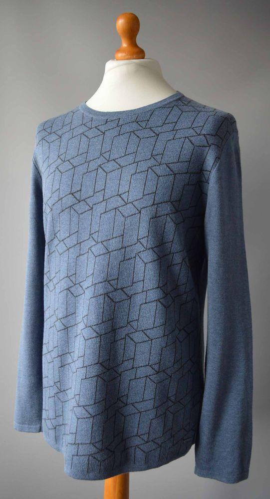 9c0212b212b061 Men's Blue Hugo Boss Crew Neck CottonSilk & Cashmere Blend Jumper Size L.  #fashion #clothing #shoes #accessories #mensclothing #sweaters (ebay link)