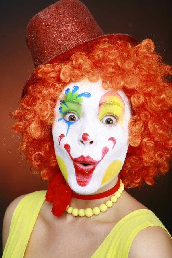 Maquillage clown merci ma mod le olive in maquillages for Face painting clowns for birthday parties
