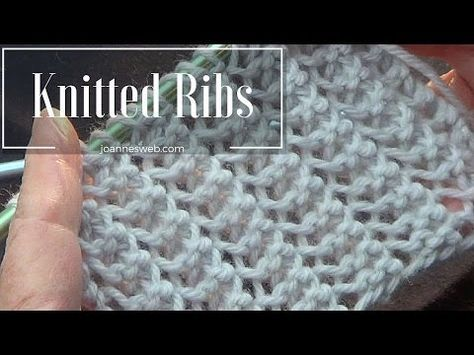 Rib Stitch | Knitted Rib Stitch | Super Easy and Fast - YouTube