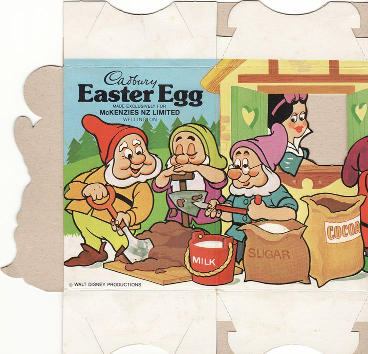 159 best easter images on pinterest vintage easter bunnies and cadbury disney snow white and the seven dwarfs easter egg box side a new zealand nzcollector tags new white snow promo chocolate disney cadbury negle Image collections