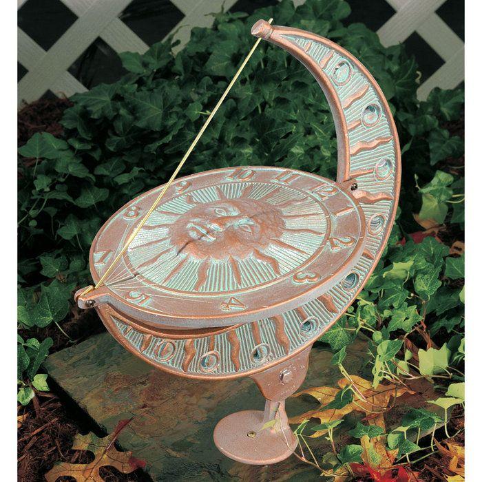 Charming Whitehall Sun And Moon Garden Sundial 01273