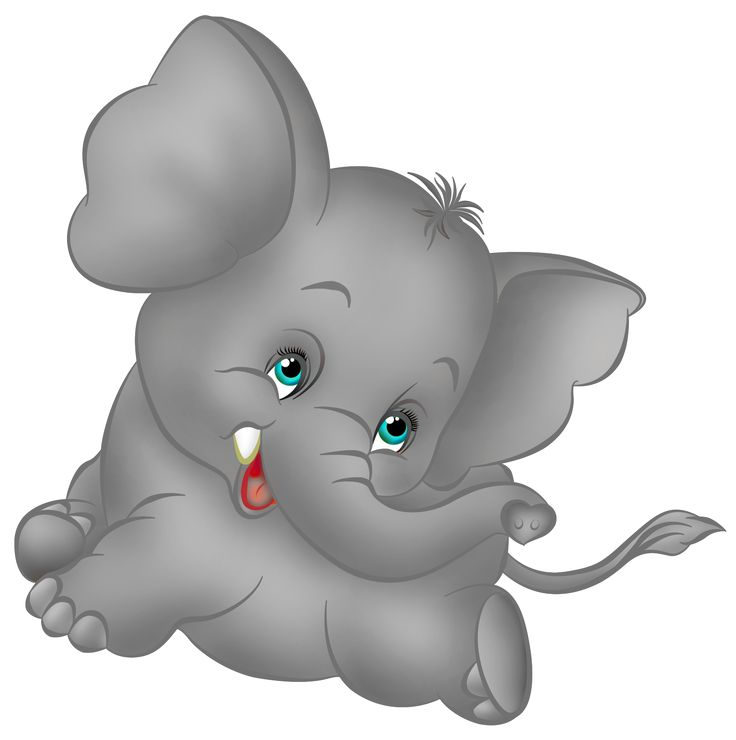 Grey Elephant Cartoon Free Clipart