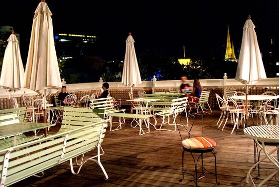 "The fabulous ""Madame Brussels"" rooftop bar."