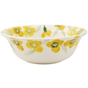 Cerealbowl Yellow Wallflower - Nieuw! - Pine-apple - Importeur Emma Br