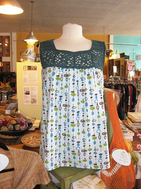 Ravelry: Floral Motif Yoke Top pattern by Linda Permann