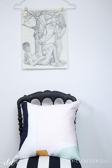 Wohndeko im Arbeitszimmer | Kissen in Pastellfarben | Wohnen | Einrichten